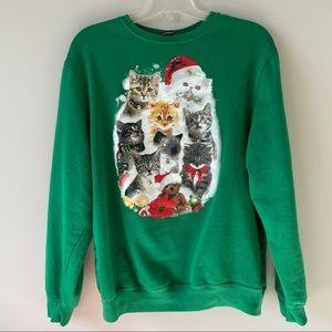 Cat Christmas sweater sweatshirt
